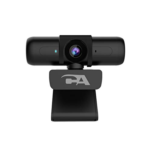 CA Essential Webcam 1080HDAF – USB Webcam with Microphone for Desktop or Notebooks 1080p Webcam HD AutoFocus and Light Correction OmniDirectional Microphone WC2000