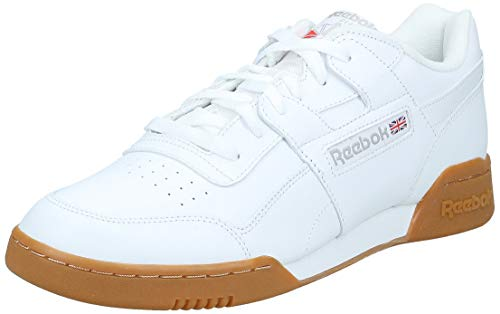 Reebok Herren Workout Plus Fitnessschuhe, Weiß (White/Carbon/Classic Red Royal/Gu 000), 44 EU