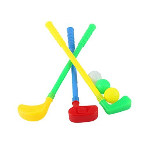 BESPORTBLE Kinder Golf Set Kunststoff Golfspielzeug Kleinkind Golf Spiel Spielzeug Set Indoor Outdoor Spaß Sportspielzeug