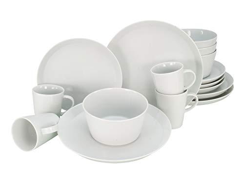 CreaTable, 22778, serie TRENDY, juego de vajilla, servicio combinado 16 piezas, Porcelain