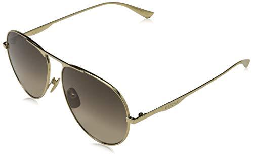 Gucci GG0334S 001 Endura Gold GG0334S Pilot Sunglasses Lens Category 2 Size 60m