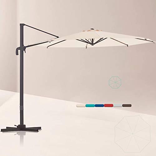 LE CONTE Lyon 10 ft. Cantilever Umbrella with 360 Degree Rotation | Outdoor Aluminum Offset Patio...