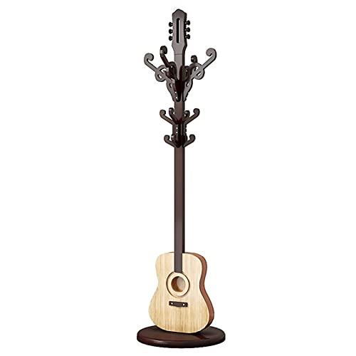 Recibidor Perchero Cubrimiento de abrigo de pie de pie de pie de pie de pie con forma de guitarra con forma de guitarra dormitorio sala de estar decoración percha moderno antiguo vertical abrigo estan