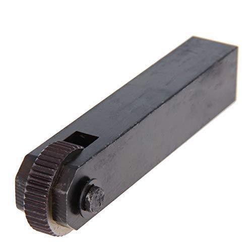 Herramienta de moleteado lineal de una sola rueda recta 2.0 mm Knurl Negro 1 pieza
