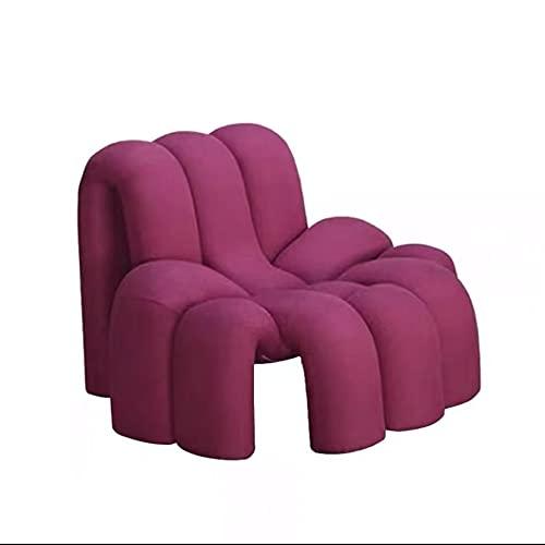 XIANGE100-SHOP Persönlichkeit Spezial-förmiger Spinnensitz Einfache Einfache Freizeit Sofa Modell Zimmer Hotel Lazy Lounge Chair (Color : Red)