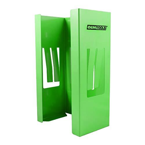 OEMTOOLS 24945 Magnetic Glove Dispenser, Glove Box Holder, Glove Holder for Wall Mount, Magnetic Glove Box Holder, Green Glove Dispenser Wall Mount