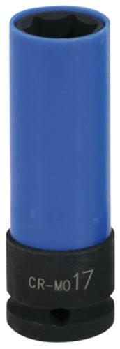 """KS Tools 515.1073 1/2\"""" Alu-Felgen Kraft-Stecknuss robust, lang, 17mm"""