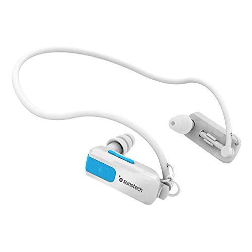 Sunstech TRITON4GBWHITE - Reproductor de MP3, resistente al agua, (4 GB de capacidad), color blanco