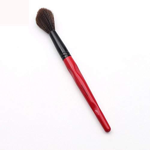 Pinceau de Maquillage de Joue synthétique en Plastique à Manche Long et Courbe en Plastique Rouge