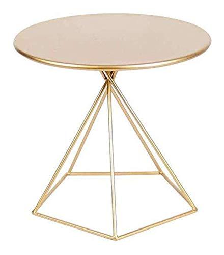 WSHFHDLC, tavolino da salotto per camera da letto, tavolino da caffè moderno, rotondo, semplice, in ferro, stile casual, per soggiorno, camera da letto, tavolino da caffè (colore: oro)