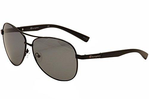 Herren Schwarz Metalllegierung ovale Sonnenbrille