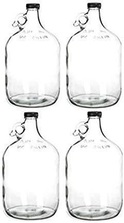 4 Glass Water Bottle Genuine Free Shipping Includes 38 shopping gal Polyseal 1 Capacit mm Cap