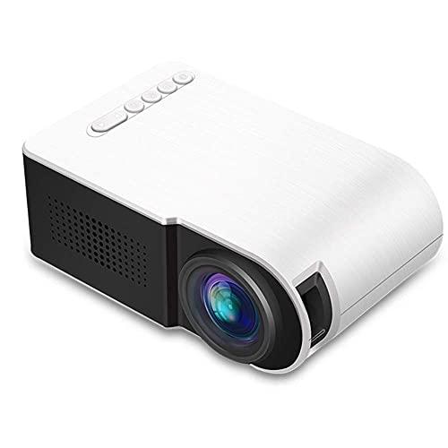 Proyector Mini Portátil Micro LED HD 1080p Soporte multifunción multifunción de 20 Pulgadas -80 Pulgadas Proyección con Altavoz Inicio