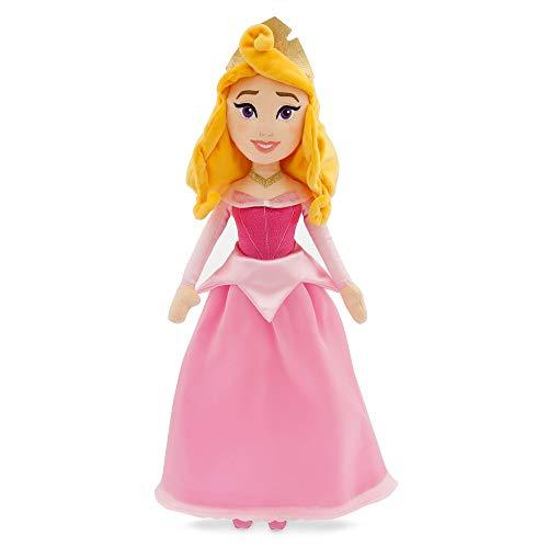 Disney Aurora - Muñeca de Peluche Suave - Bella Durmiente - Hecha con Tela Suave al Tacto, características Bordadas con Vestido Brillante en Capas y Corona 3D - Apto para Mayores de 0 años Aurora