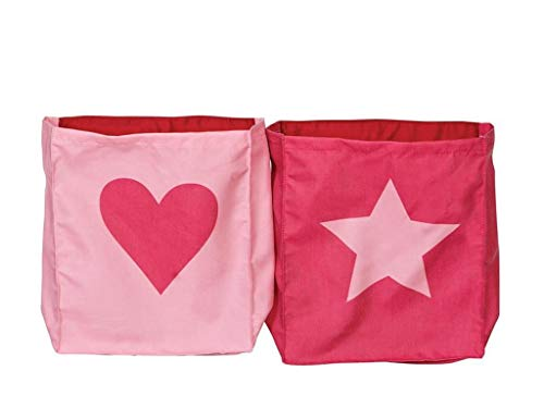Manis-h Betttaschen 2er-Set Heart & Star