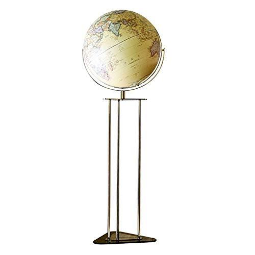 Globo del mundo, iluminado, recargable, con mapa en relieve, globo Smt Touch Eth, lámpara de globo de suelo para decoración educativa geográfica del mundo con base de soporte triangular de metal, 43