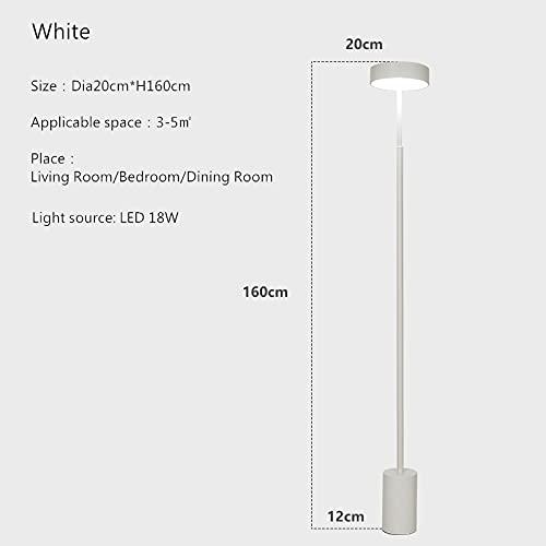 Springhua. Lámpara de pie moderna de minimalismo Nordic Metal LED Lámpara de pie compatible con salón dormitorio RC Dim Decor Lightures Fixtures (Body Color : Tricolor Dimming)