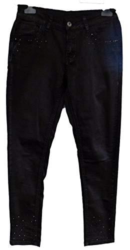 Zac & Zoe Coole Damen Jeans Demin Stretch schwarz-Strass 5-Pocket-Style Gr. 36