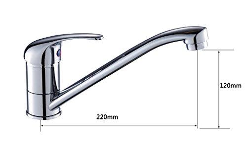 K30-105 Modern Design keukenkraan eengreepsmengkraan voor keuken, chroom hendel 105 verchroomd