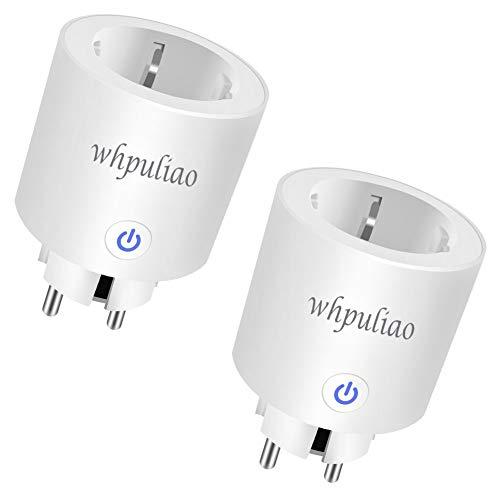 Smart WLAN Steckdose, Wifi Intelligente Steckdosen Stecker Fernbedienbar und Sprachsteuerung mit Timer Funktion kompatibel mit Alexa, Google Home & IFTTT, auf 2.4 GHz Netzwerk