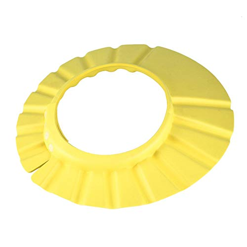 RoxTop Bebé suave de los niños Los niños del baño del champú de baño de ducha del sombrero del casquillo protector del pe (amarillo)