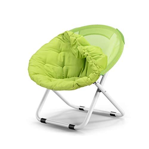 LGQ-JJU Mobili For Sedie A Sdraio Rotondi, Sedia Divano Staccabile, Lettino Prendisole, Sedia Rotonda Pieghevole In Acciaio + Sedia In Tela (Color : Green)