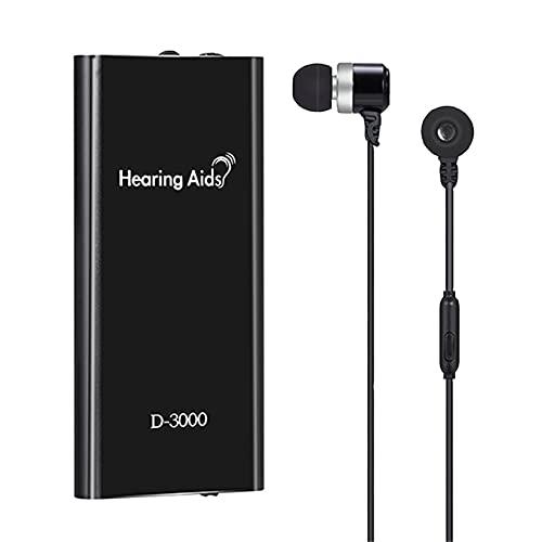 FR&RF Ayudas auditivas Recargables Amplificadores de Sonido Amplificadores de audición Ajustables Pérdida auditiva con Cable Auriculares Auriculares Ayudas para los Ancianos