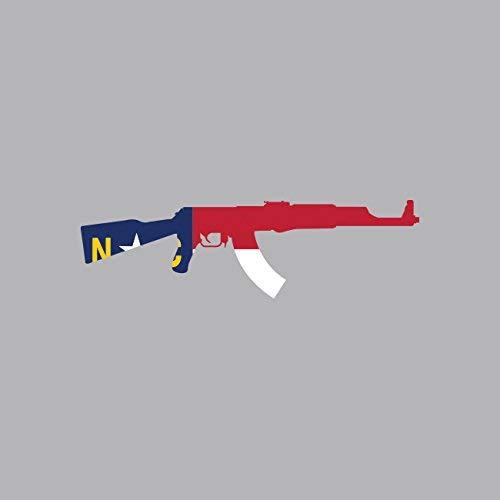North Carolina State Shape AK-47 Sticker Vinyl...