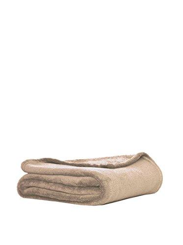 Stilia Manta Coral Suave con Tacto de Terciopelo para Sofá y Cama, 130 x 160 cm, Beige