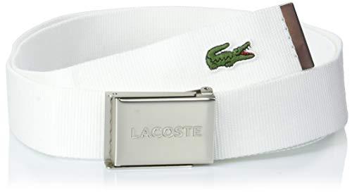 Lacoste Herren RC2012 Gürtel, Weiß (Blanc), 95 (Herstellergröße: 110)
