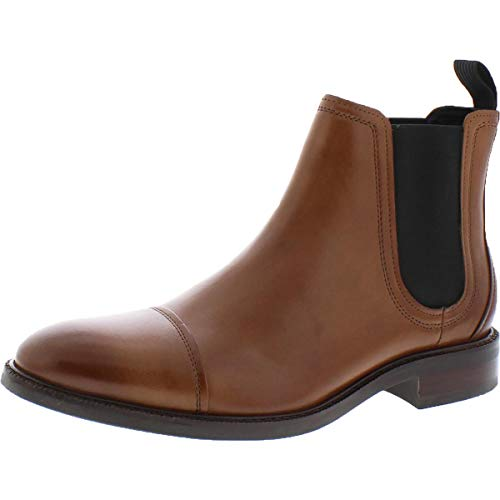 Cole Haan Mens Conway Leather Pull On Chelsea Boots Tan 11 Medium (D)