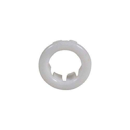 Kleine witte rozet roos kraag voor badkamer wastafel overloop 25mm diameter