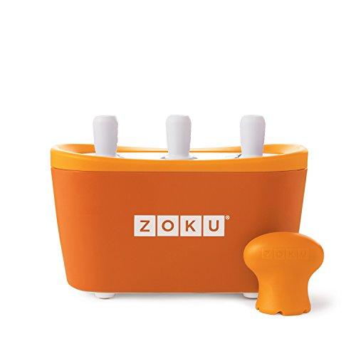 ZOKU Quick POP Maker ORANGE Quick Pop? Maker Con 3 scomparti