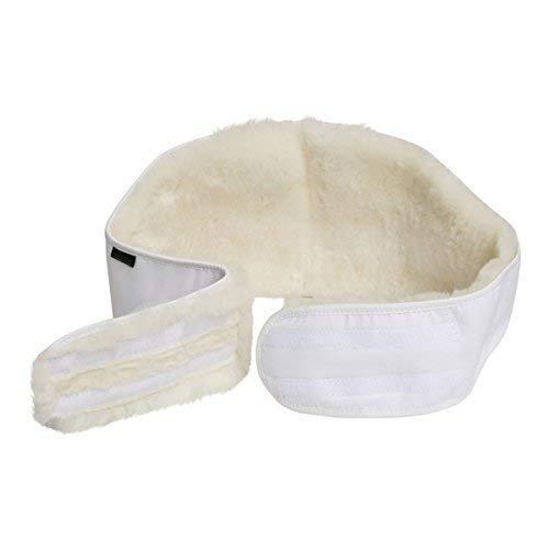 Lammfell - NIERENGURT Lammfellwärmer Nierenwärmer Rückenwärmer S-3XL Größe L, Farbe Weiß