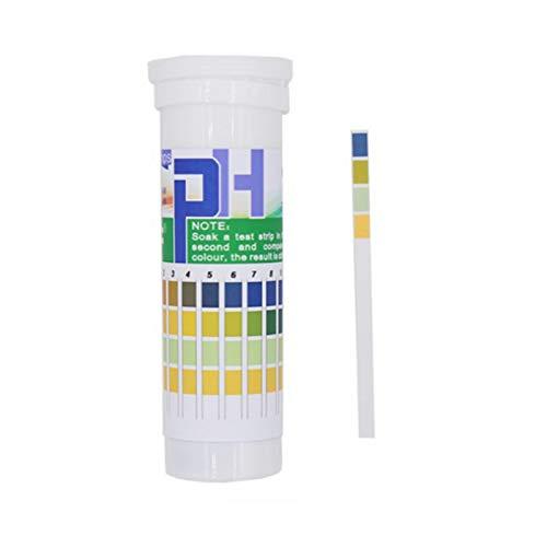 Dreameryoly 150 Tiras de Prueba de pH de precisión para ácidos y álcalis 114 Rango de medición Completo Tira de pH Universal para Papel de Prueba de tornasol para Agua de SPA de Piscina Superb
