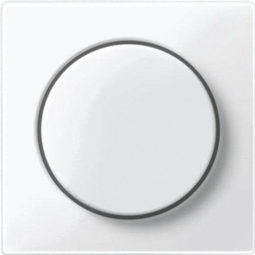 Merten MEG5250-0319 Zentralplatte mit Drehknopf, polarweiß glänzend, System M