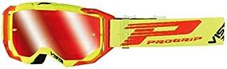Progrip Gafas Cross 3303 FL Vista Amarillo Fluo-Rojo Pantalla Espejo Antiarañazos Anti U.V.-Anti Niebla Amarillo Fluo Rojo