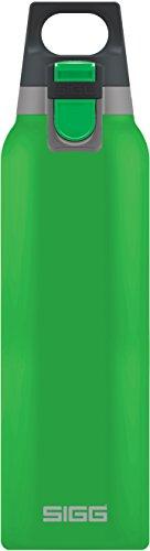 Sigg Vakuum-isolierte Trinkflasche SIGG Hot und Cold ONE Green, Vakuum-isolierte Thermo-Flasche aus Edelstahl, 0.5 L, BPA Frei, Grün, Grün, 0.5 L, 8694.10
