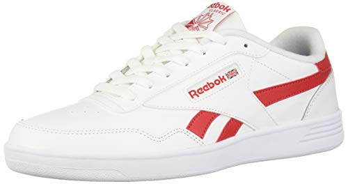 Reebok Men's Club MEMT Shoe, White/Rebel Red/White, 11 M US