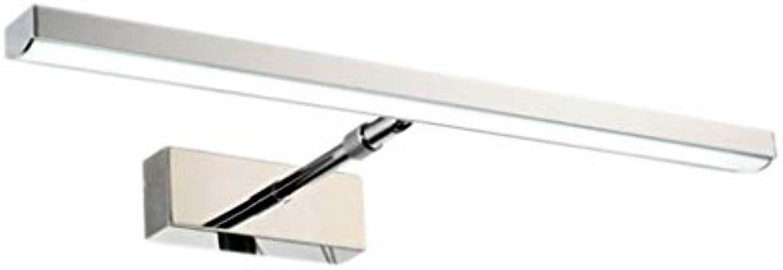 &LED Spiegelfrontlampe LED Spiegel Scheinwerfer Wandleuchte Versenkbare Edelstahl Spiegel Schrank Lampe Badezimmer Badezimmer Lampe Lampe vor dem Spiegel (Farbe   Positive Weiß light-40 cm)