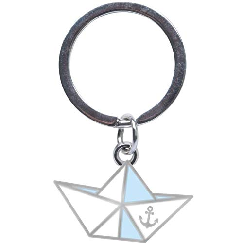 Sheepworld - 46839 - Mini Schlüsselanhänger, Papierboot, Ich Will Meer, Metall, Kunststoff, 10cm x 5cm