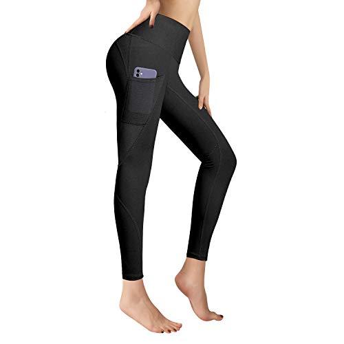 RaMokey El Nuevo Leggings Mujer Mallas de Deporte de Mujer Cintura Alta con Bolsillos Pantalon Deportivo para Running Training Estiramiento Yoga y Pilates XL