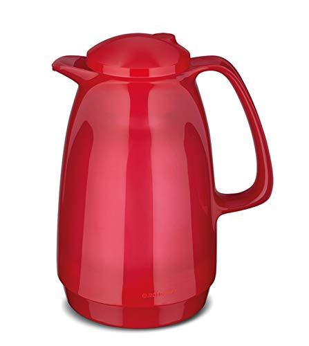 ROTPUNKT Isolierkanne 220 Bella 1,0 l | Zweifunktions-Drehverschluss | BPA-frei - gesundes Trinken | Made in Germany | Warm + Kalthaltung | Glaseinsatz (Glossy Bubblegum)