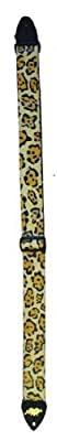 Yellow Leopard Print Guitar Strap