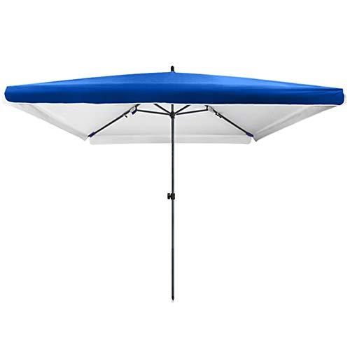 Parasol LWMQ Rectangulaire De Balcon, Réglable en Hauteur/Pliable, Protection UV 50 +, Acier Épaissi, Renforcé Et Durable (Bleu)