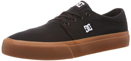 DC Shoes (DCSHI) Trase TX-Shoes For Men, Zapatillas de Skateboard para Hombre, Negro (Black/Gum), 36 EU