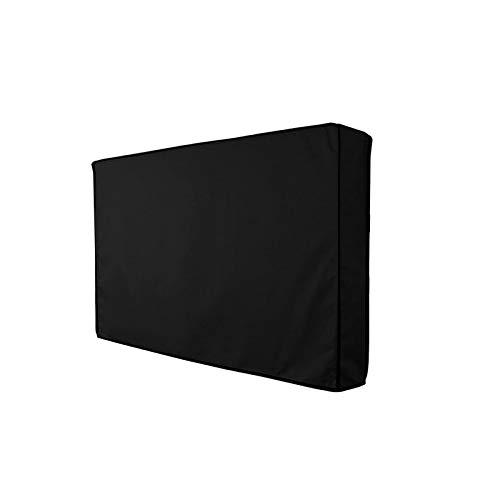BANGSUN Cubierta para televisión al aire libre con tela de microfibra impermeable inferior
