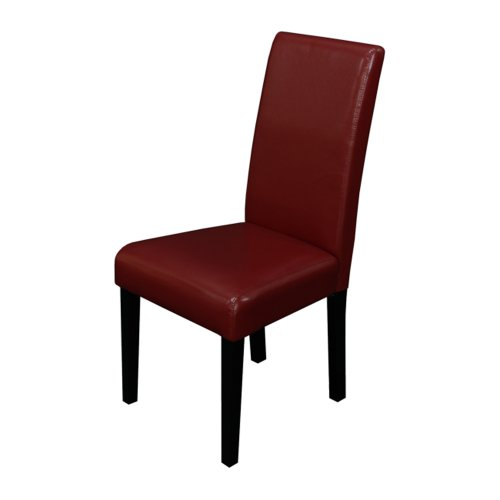 Monsoon Pacific Villa Faux Leather Dining Chairs (Set of 2), Red