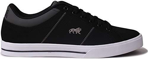 Lonsdale Latimer Zapatillas deportivas para hombre de piel de estilo casual, color Negro, talla 42