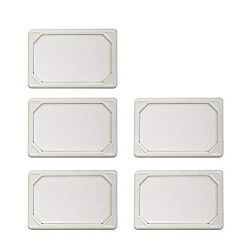 SEMI ネームプレート マグネット付き 同色5枚セット 名刺サイズ対応 収納 整理 (ホワイト) SM-NPMAG